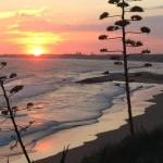 tramonto sulle spiagge della provincia di Ragusa